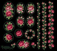 Small Cross Stitch, Cross Stitch Borders, Cross Stitch Rose, Cross Stitch Flowers, Cross Stitch Designs, Cross Stitch Patterns, Basic Embroidery Stitches, Ribbon Embroidery, Cross Stitch Embroidery