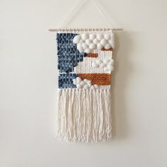 Denim Weaving Woven Wall Hanging by UnrulyEdges on Etsy