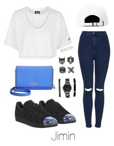 Ice cream date with Jimin  by ari2sk on Polyvore featuring polyvore, fashion, style, Topshop, adidas, Kate Spade, DKNY, Anne Klein, Miss Selfridge and clothing