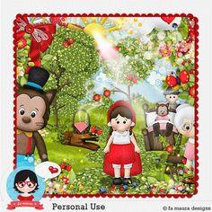 Kit Digital Chapeuzinho Vermelho de Fa Maura Designs....  #famaura #famauradesigner #scrapbookingdigital #fasoarte  http://famaura.com/shop/index.php?main_page=product_info&cPath=3&products_id=1905#.U_ujHfmwJgk