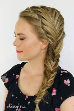 Waterfall and Fishtail French Braids #beauty #hair #braid - I really need to learn how to do this!  Or find someone who can.  So cute!