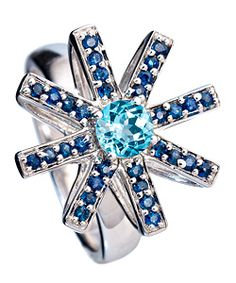 Simone Wang Blue 8 Point Star Ring