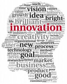 Innovation comes from a creative idea from your head with a clear vision or idea.
