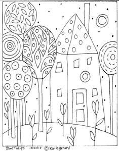 tree and house doodle.  This item found and pinned by splashduck.  View public author profile of Rob Goddard at http://www.streetarticles.com/about/rob-goddard/39075
