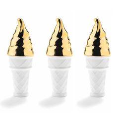 Porcelain Soft Serve with luxurious Gold Lustre. http://shop.thecoolhunter.net/index.cfm/catalogue/homewares/
