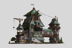 #InexpensiveHomeDecorating Key: 7345036855 Building Concept, Building Art, Building Design, Minecraft Architecture, Concept Architecture, Architecture Design, Classical Architecture, Fantasy City, Fantasy House