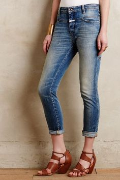 Closed Cropped Worker Jeans - anthropologie.com #anthrofave