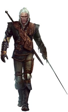 Geralt of Rivia from the Witcher 2 video game.