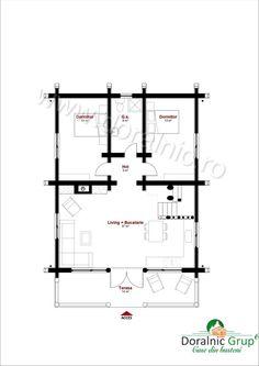 Proiect Doralnic 17 Case din busteni - Cabane din lemn Cabana, Floor Plans, Houses, How To Plan, Photography, Homes, Photograph, Fotografie, Cabanas