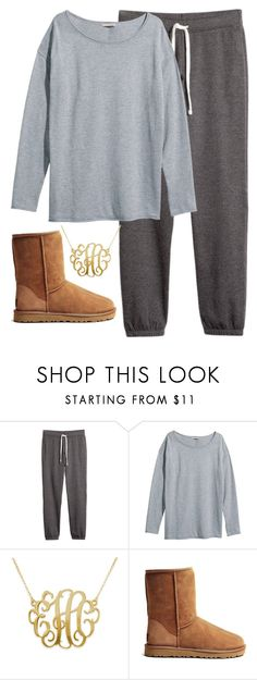 """""""comfy"""" by whitegirlsets ❤ liked on Polyvore featuring H&M, UGG Australia, women's clothing, women's fashion, women, female, woman, misses and juniors"""