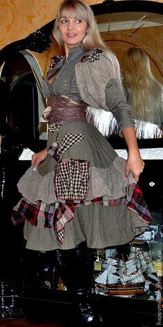 """Платья ручной работы. Ярмарка Мастеров - ручная работа бохо платье""""Подружка ковбоя"""")). Handmade."""