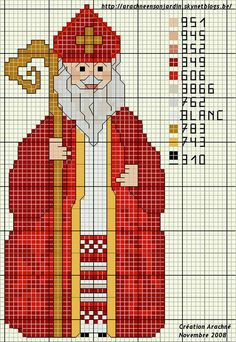 Sinterklaas Christmas Embroidery Patterns, Diy Embroidery, Cross Stitch Embroidery, Cross Stitch Christmas Ornaments, Christmas Cross, Xmas, Cross Stitch Bookmarks, Counted Cross Stitch Patterns, Faith Crafts