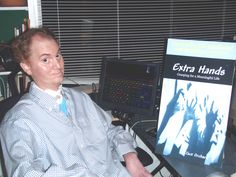 Jack Orchard and his book Extra Hands which he wrote with our Eyegaze Edge system.
