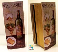 Vinhozinho na casa dos amigos? Que tal levar sua garrafa disfarçada numa caixa-livro?
