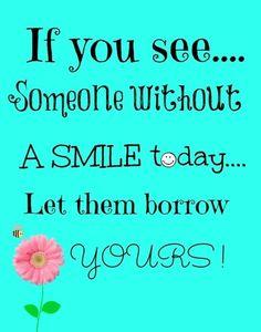 smile be happy free printable