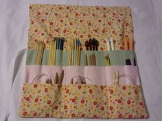 Knitting needle case.  Cute and usefull.    Esty - sewandpray