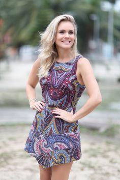 Vestido estampado por R$179,00 na nossa loja virtual www.rendasseatelie.com.br
