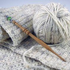 Handmade Wooden Crochet Hook - White Oak.  ~K~ someday I shall carve crochet hooks
