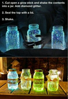 Pretty cool, and fun for kids. You could also just use glow in the dark paint, or if you have a black light at home, use neon colors (for parties and such).