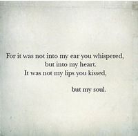 you touched my soul...