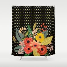 Buy Shower Curtains featuring Flowers bouquet #2 by Juliana RW. Made from 100% easy care polyester our designer shower curtains are printed in the USA and feature a 12 button-hole top for simple hanging.