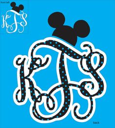 Disney Monogram Shirts by Whitefish Creations $24.00