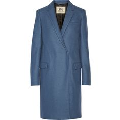 Burberry London Double-breasted wool coat, Size: 12 ($335) ❤ liked on Polyvore featuring outerwear, coats, coats & jackets, burberry, burberry coat, wool coat, blue double breasted coat, double-breasted coat and blue wool coat