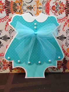25 Baby Girl Turquoise Dress  invitations by PaperDivaInvitations, $125.00