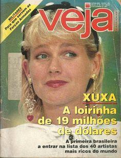 Rycah na capa da Veja | A história da vida de Xuxa em 39 capas de revista (e uma de disco)