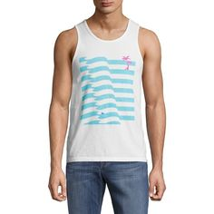 Body Rags Clothing Co Men's Beach-Printed Cotton Sleeveless Tank -... ($17) ❤ liked on Polyvore featuring men's fashion, men's clothing, men's shirts, men's tank tops, no color, mens cotton tank tops, mens cotton sleeveless t shirts, mens sleeveless tank tops, mens pullover shirts and mens cotton shirts
