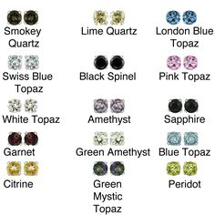 Add a little glamour to your everyday ensemble with these colorful gemstone stud earrings from Glitzy Rocks. Featuring a high-polished sterling-silver construction with a butterfly clasp for security, you can get one in every hue for every outfit.