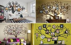 family tree wall art wonderfuldiy1 Wonderful DIY Amazing Family Tree Wall Art