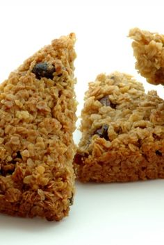 A healthy snack - delicious nutty flapjacks...