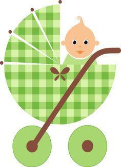 Baby Crib Clip Art | ... tags baby usage to insert baby in green stroller clip art on to your