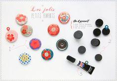 {3} calendrier de l'avent  DIY jolis aimants   http://www.griottes.fr/3_aimants