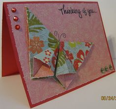 OWH Stars and Stamps (Our OLD blog!): Tutorial - Origami Butterfly
