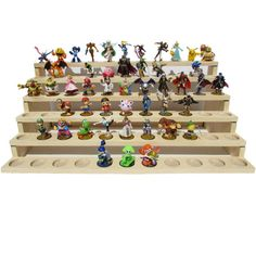 Toyplicity amiibo Stand 66 Slots by Toyplicity on Etsy Amiibo Display, Industrial Strength Velcro, Local Hardware Store, Disney Infinity, Wood Glue, Displaying Collections, Model Ships, Paint Finishes, Tricks
