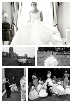 Sassi Holford Brides in fun settings! Happy Bride, weddings,  runaway flower girl, Tulle dress, wedding gown, bridal party