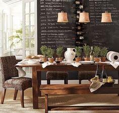 blackboard wall dining room
