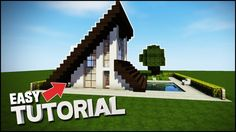 Minecraft House Tutorial: A-Frame Modern House - Best House Tutorial