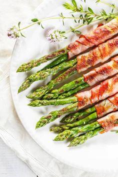 szparagi-z-szynką - Dietetyczne przepisy na grilla