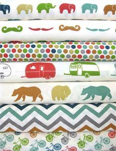 ORGANIC 3 piece custom bedding set- just for fun- crib skirt, changing pad cover, fitted crib sheet- made to order