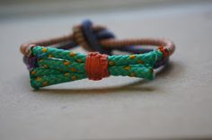 [a few good things]: diy wrapped and knotted cord bracelet.