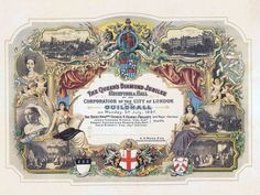 An invitation to the Diamond Jubilee Ball at the Guildhall in 1897.
