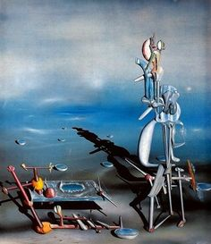 Yves Tanguy created highly imaginary and hallucinatory scenes that depicted, more than most Surrealists, the unconscious as a place