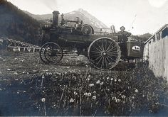 Orvis George Crouse born July 7,1883. Fourth child of Henry and Anna Crouse near Springhill with his steam engine tractor