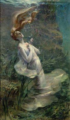 Paul Steck, Ophelia Drowning, 1895