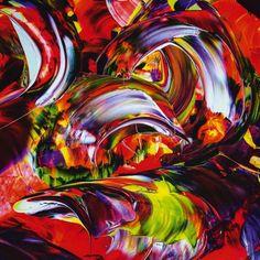 Poster oder Leinwand Bild Walter Zettl Abstrakte Motive Digitale Kunst Rot C8GC