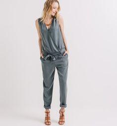 Combinaison-pantalon Femme gris foncé - Promod