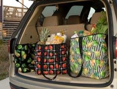 """""""Market Day Tote"""" designed by Cate Tallman-Evans, made with fabric from the Fruit collection by Michael Miller Fabrics."""